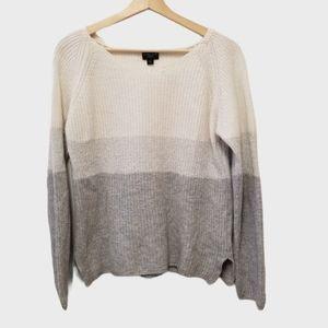 Cyrillus Paris | White, Silver & Gray Knit Sweater